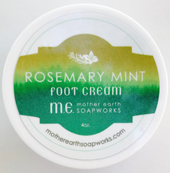 Rosemary Mint Shea Butter Foot Cream