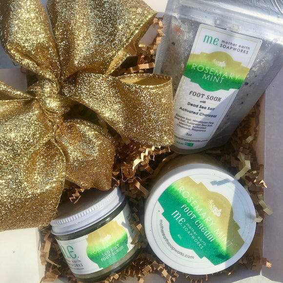 Rosemary Mint Sea Salt Foot Care Gift Set