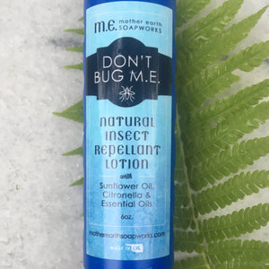 """Don't Bug M.E."": Natural Insect Repellant Lotion"