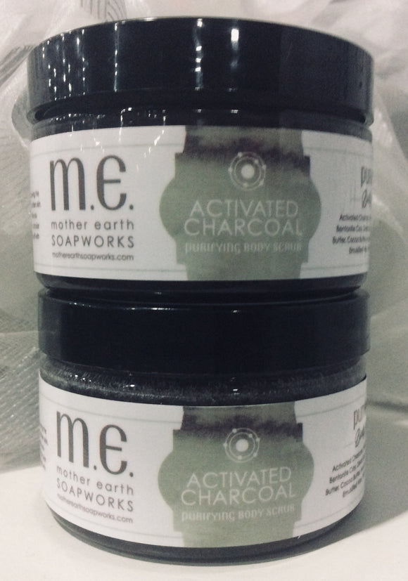 Activated Charcoal Purifying Body Scrub - 12 Individual Scrubs - Wholesale
