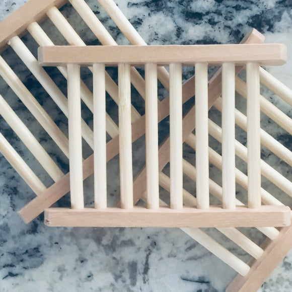 All Natural Wooden Soap Dish