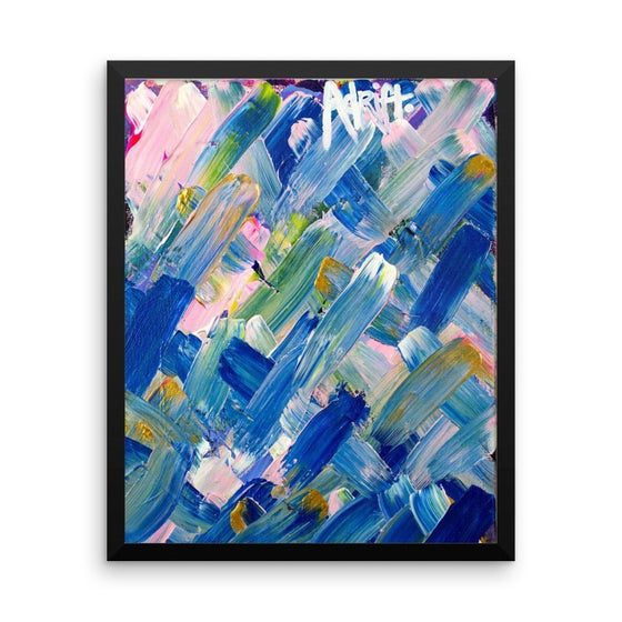 Adrift. Enhanced Matte Paper Framed Poster Abstract Deep
