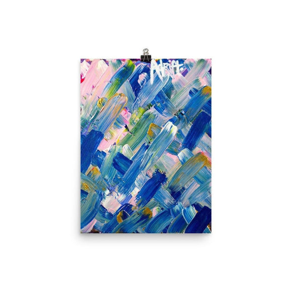 Adrift. Enhanced Matte Paper Poster Abstract Deep