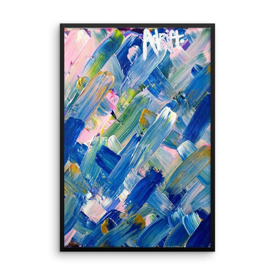 Adrift. Premium Luster Photo Paper Framed Poster Abstract Deep