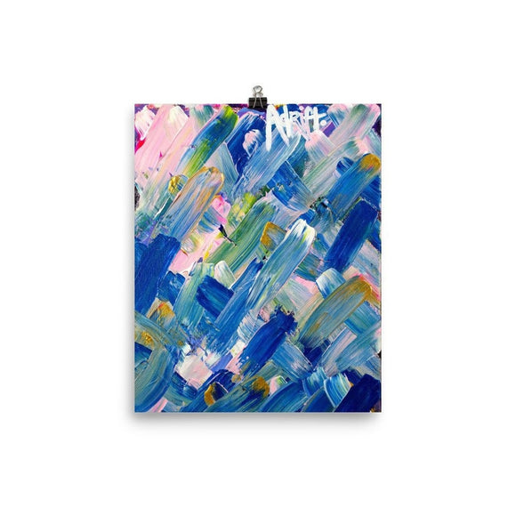 Adrift. Premium Luster Photo Paper Poster Abstract Deep