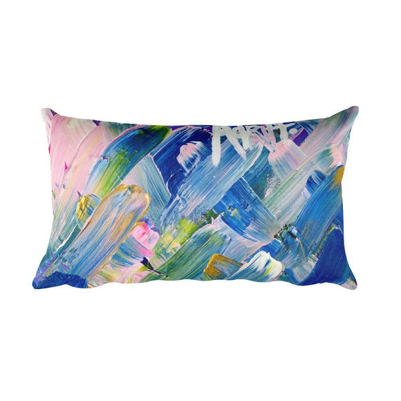 Adrift. Rectangular Pillow Abstract Deep