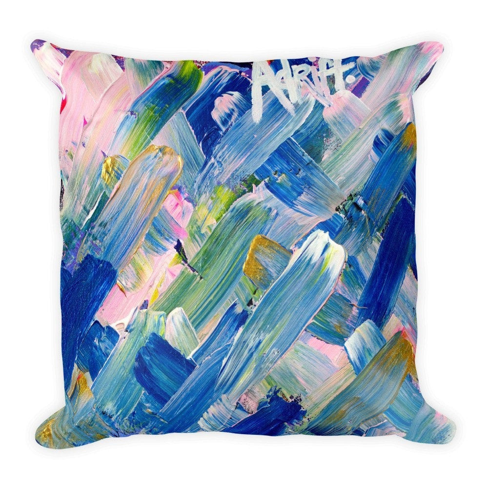 Adrift. Square Pillow Abstract Deep
