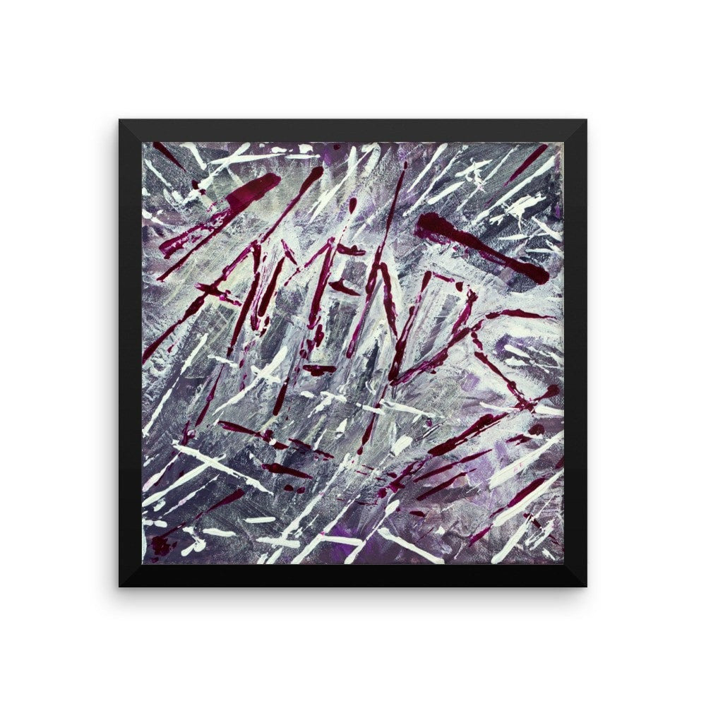 Amends. Enhanced Matte Paper Framed Poster Abstract Deep