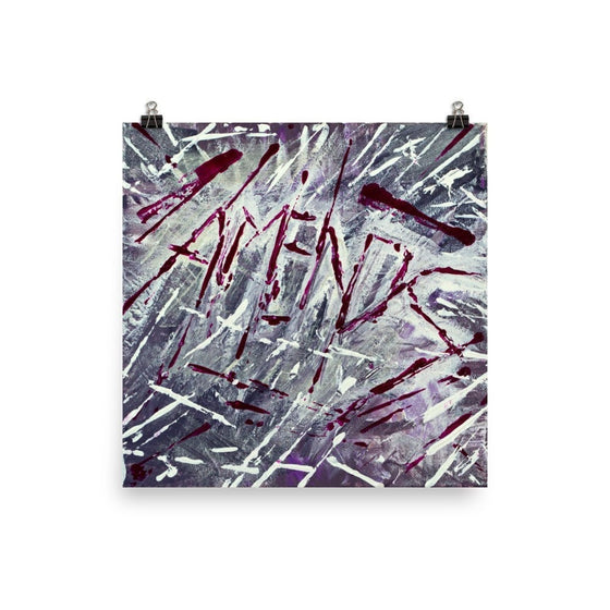 Amends. Enhanced Matte Paper Poster Abstract Deep
