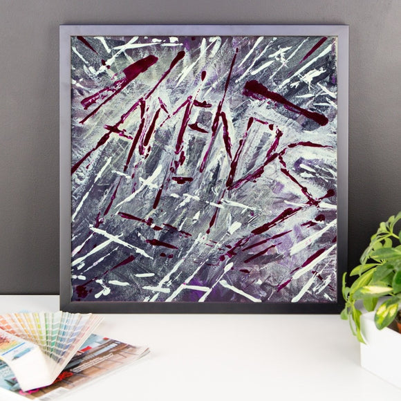 Amends. Premium Luster Photo Paper Framed Poster Abstract Deep