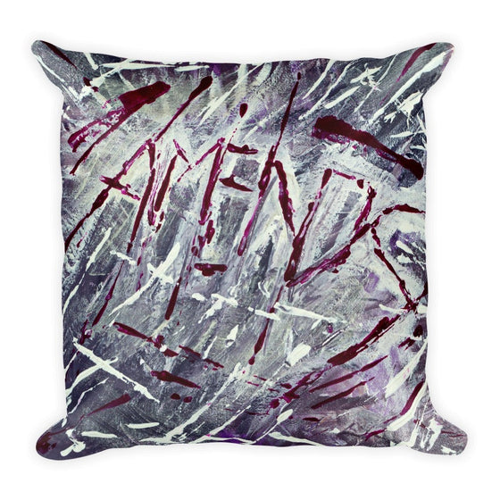 Amends. Square Pillow Abstract Deep