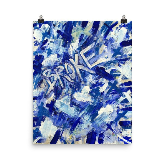 Broke. Premium Luster Photo Paper Poster Abstract Deep