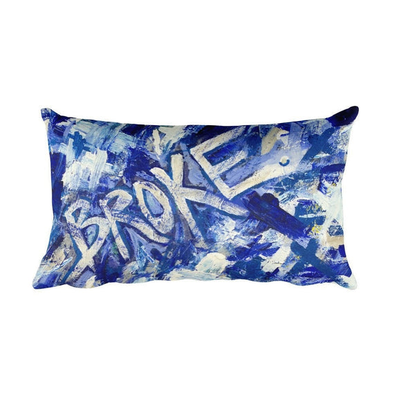 Broke. Rectangular Pillow Abstract Deep