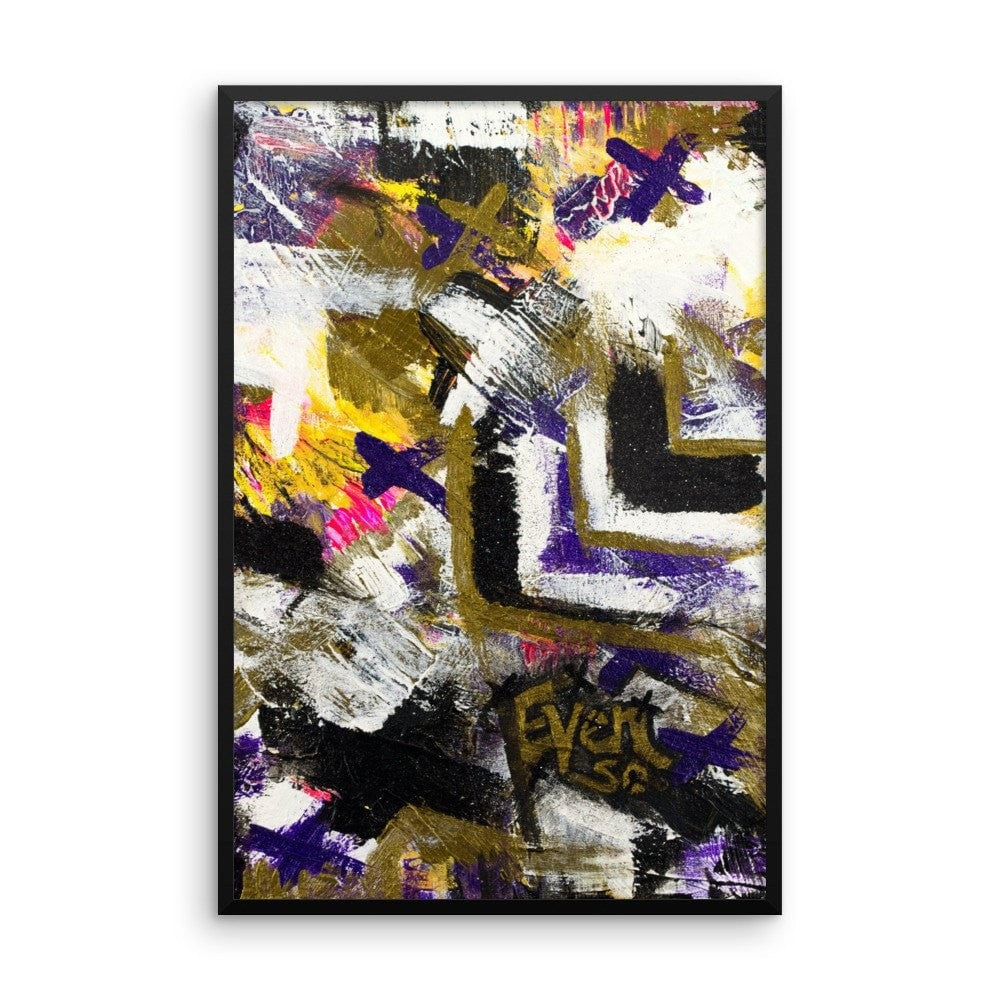 Even So. Premium Luster Photo Paper Framed Poster Abstract Deep