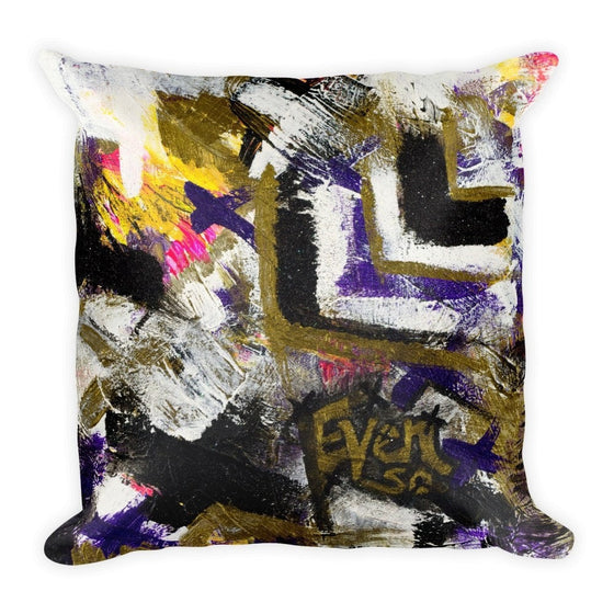 Even So. Square Pillow Abstract Deep