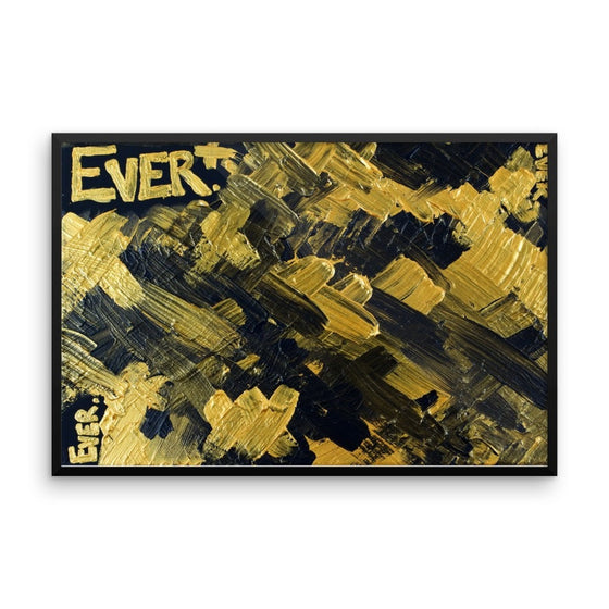 Ever. Enhanced Matte Paper Framed Poster Abstract Deep