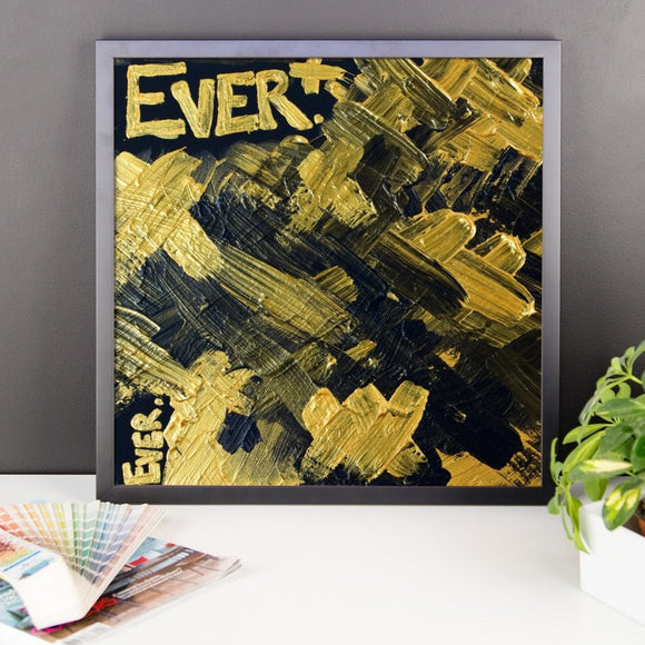 Ever. Premium Luster Photo Paper Framed Poster Abstract Deep