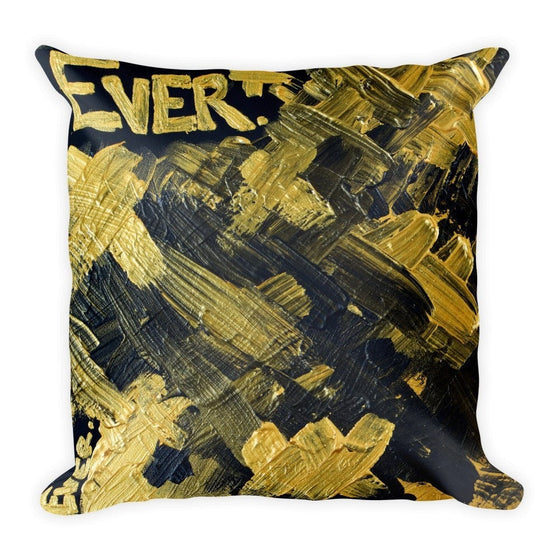 Ever. Square Pillow Abstract Deep