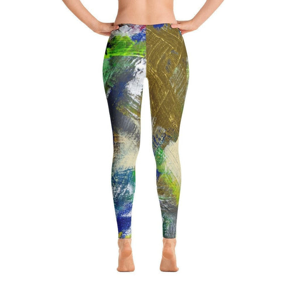 For Now. Ankle Length Leggings Abstract Deep