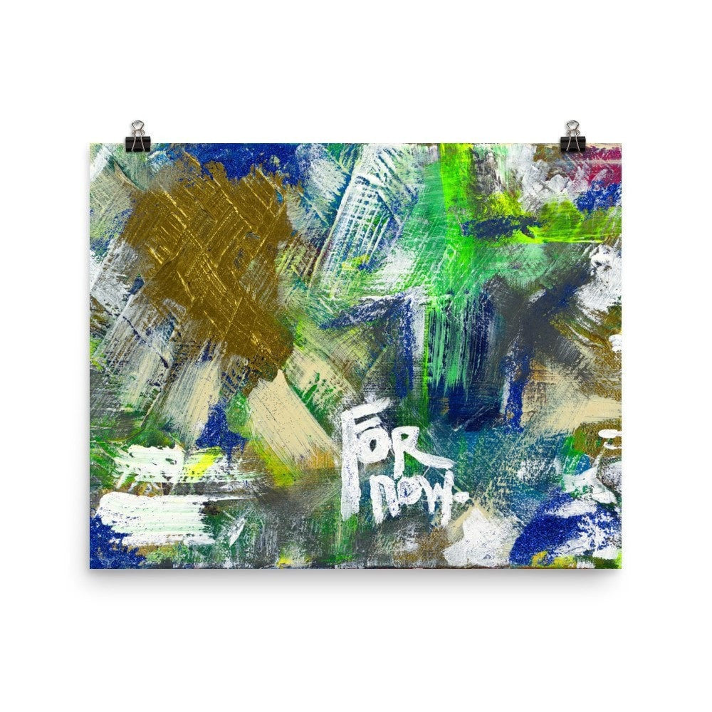 For Now. Premium Luster Photo Paper Poster Abstract Deep
