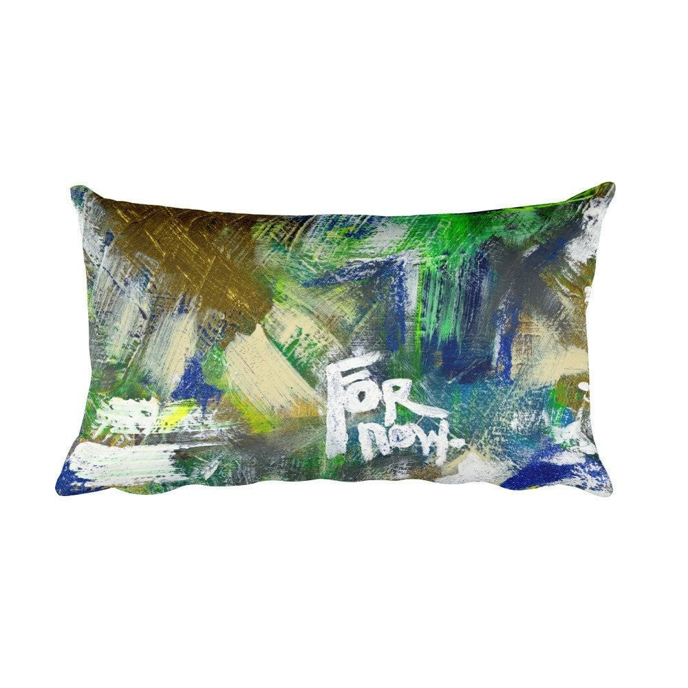 For Now. Rectangular Pillow Abstract Deep