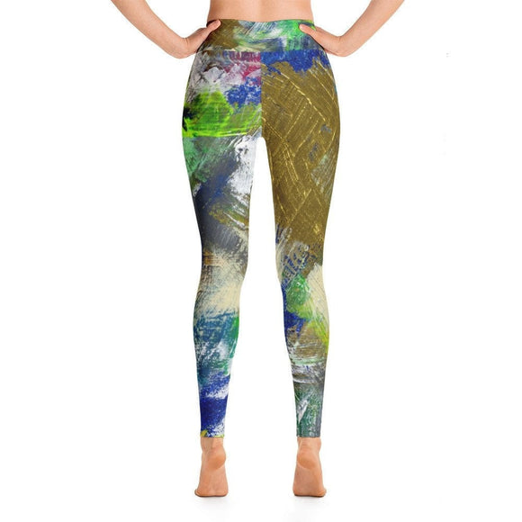 For Now. Yoga Leggings Abstract Deep