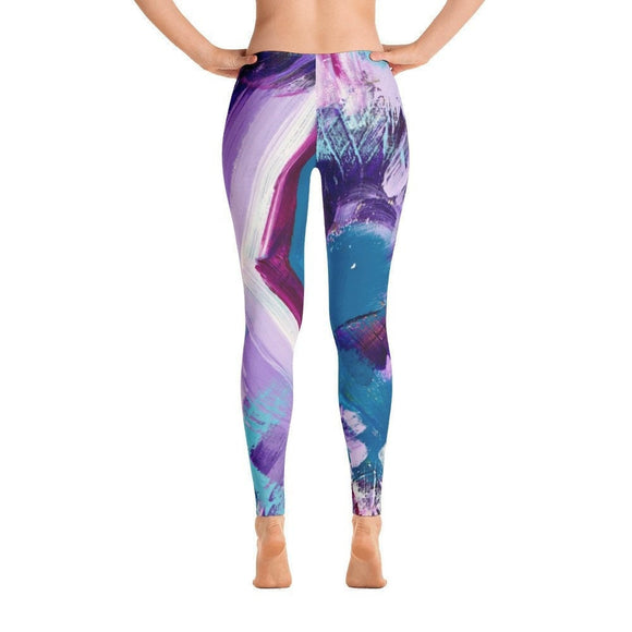 Hey You Good? Ankle Length Leggings Abstract Deep