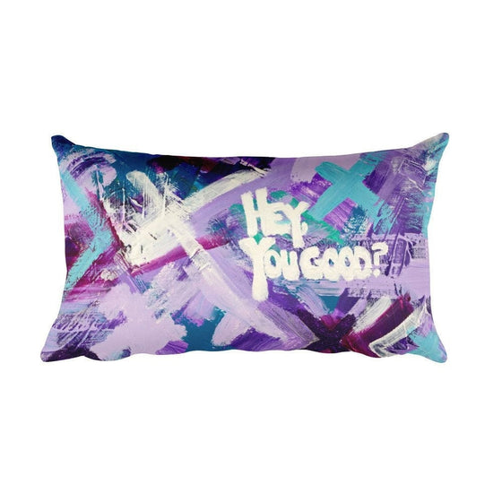 Hey You Good? Rectangular Pillow Abstract Deep
