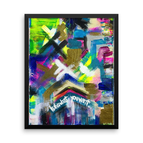 Is This What You Want. Enhanced Matte Paper Framed Poster Abstract Deep