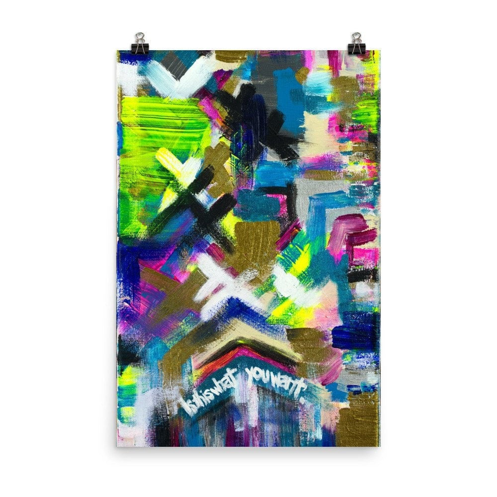 Is This What You Want. Premium Luster Photo Paper Poster Abstract Deep