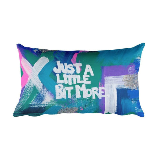 Just A Little Bit More. Rectangular Pillow Abstract Deep