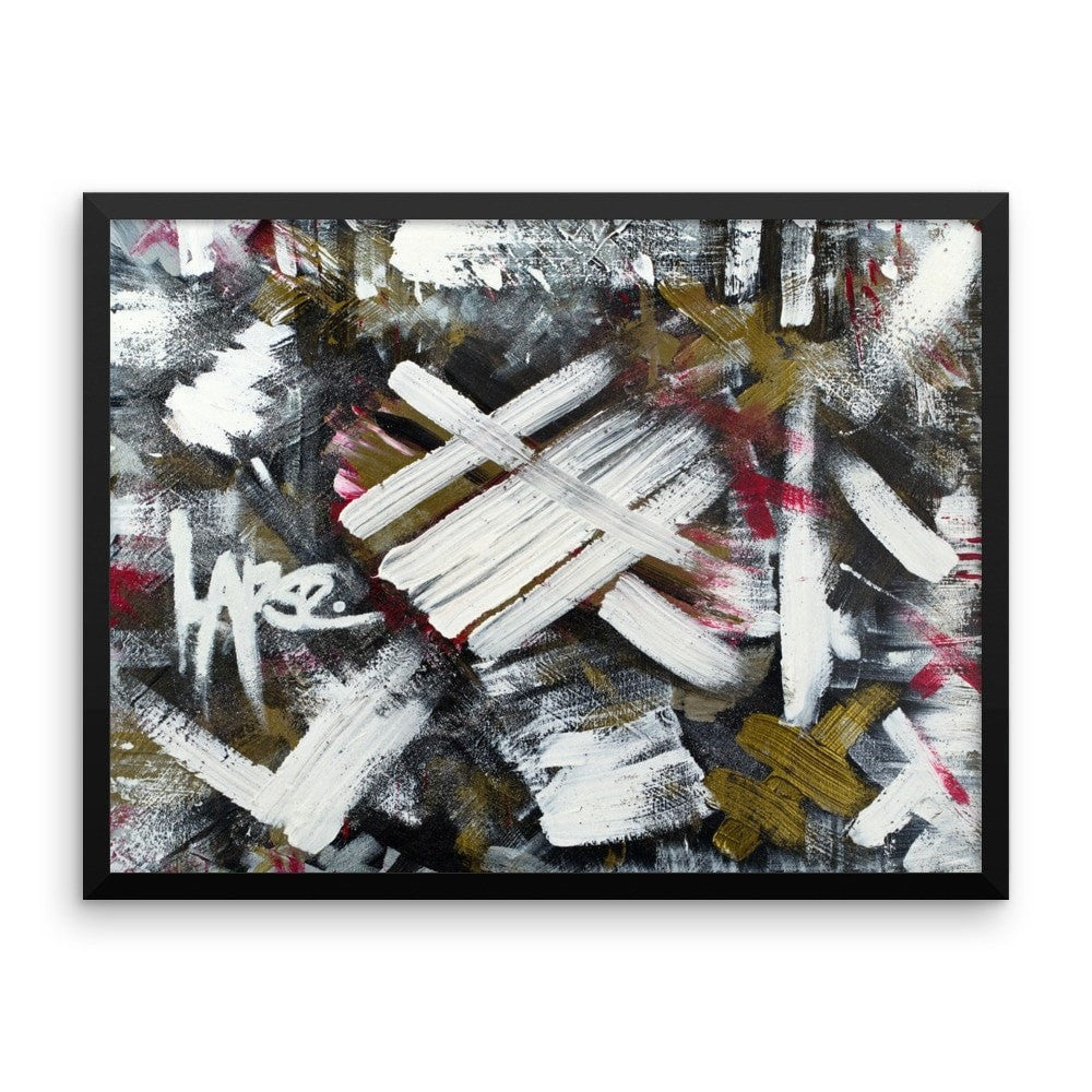 Lapse. Enhanced Matte Paper Framed Poster Abstract Deep