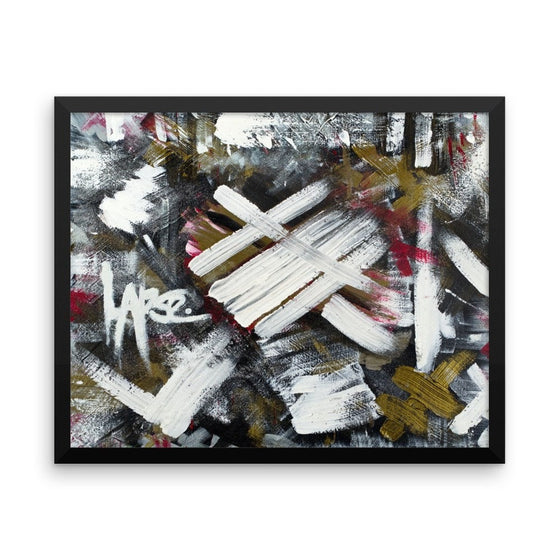 Lapse. Premium Luster Photo Paper Framed Poster Abstract Deep