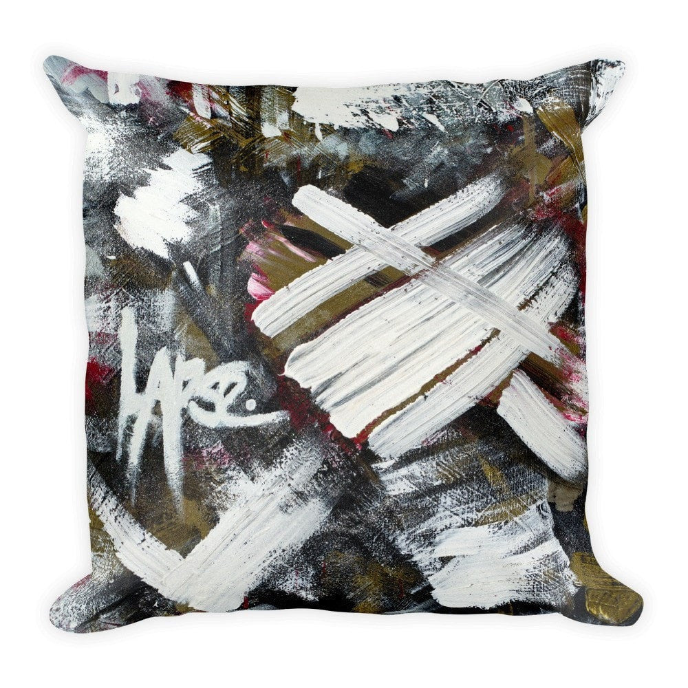 Lapse. Square Pillow Abstract Deep