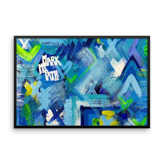 Mark My Path. Premium Luster Photo Paper Framed Poster Abstract Deep