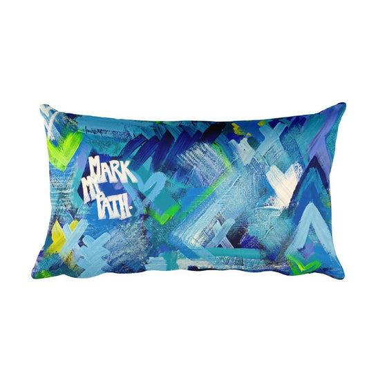 Mark My Path. Rectangular Pillow Abstract Deep
