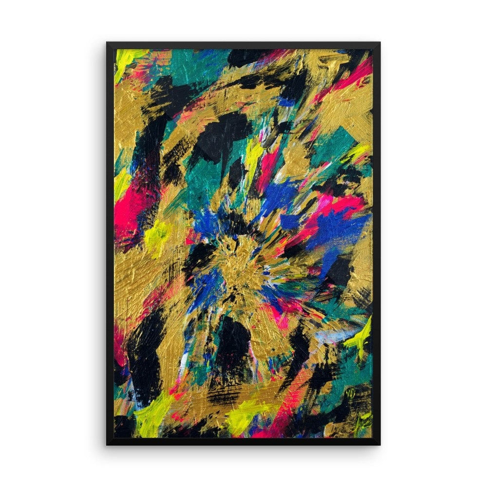 No Name. Enhanced Matte Paper Framed Poster Abstract Deep