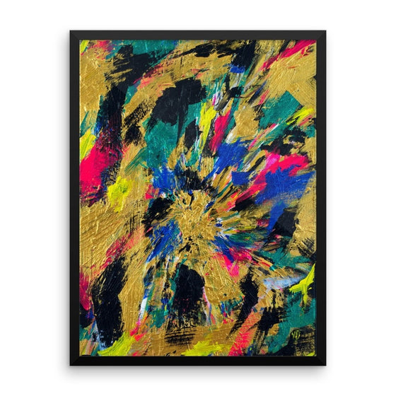No Name. Premium Luster Photo Paper Framed Poster Abstract Deep