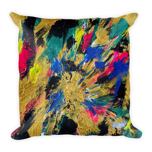No Name. Square Pillow Abstract Deep