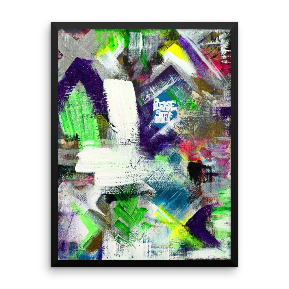 Please Stay. Enhanced Matte Paper Framed Poster Abstract Deep