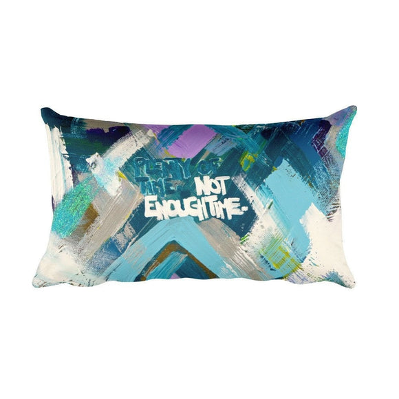 Plenty Of Time. Not Enough Time. Rectangular Pillow Abstract Deep