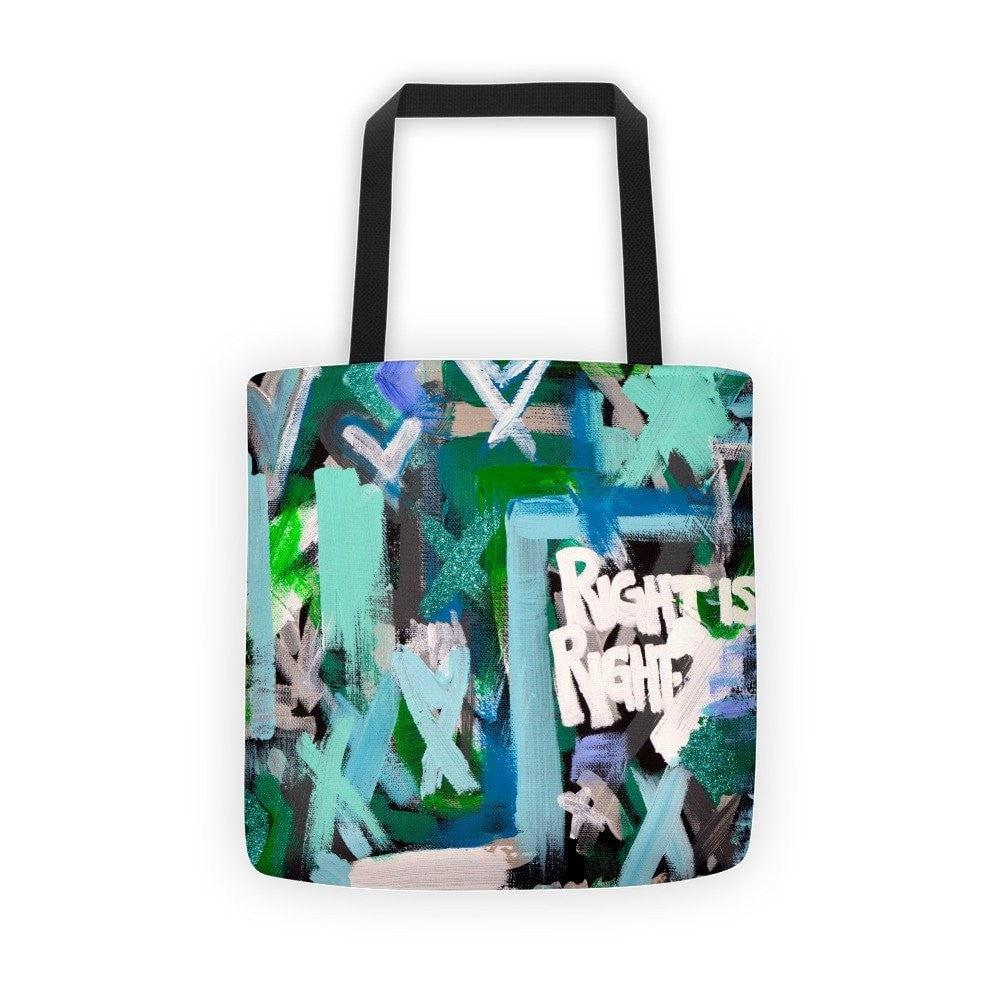 Right Is Right. Classic Tote Abstract Deep