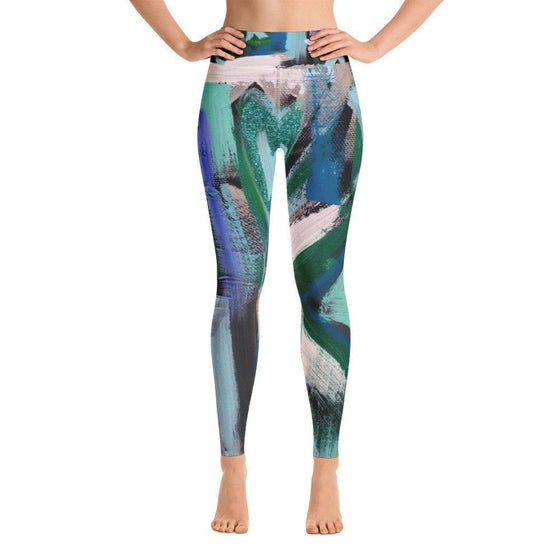 Right Is Right. Yoga Leggings Abstract Deep