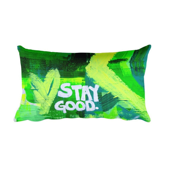 Stay Good. Rectangular Pillow Abstract Deep