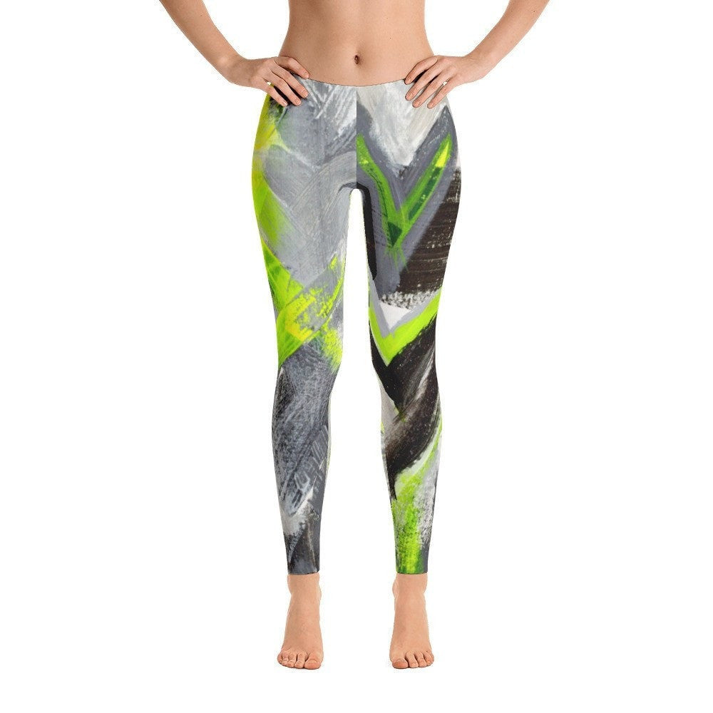 Stay In The Fight. Ankle Length Leggings Abstract Deep