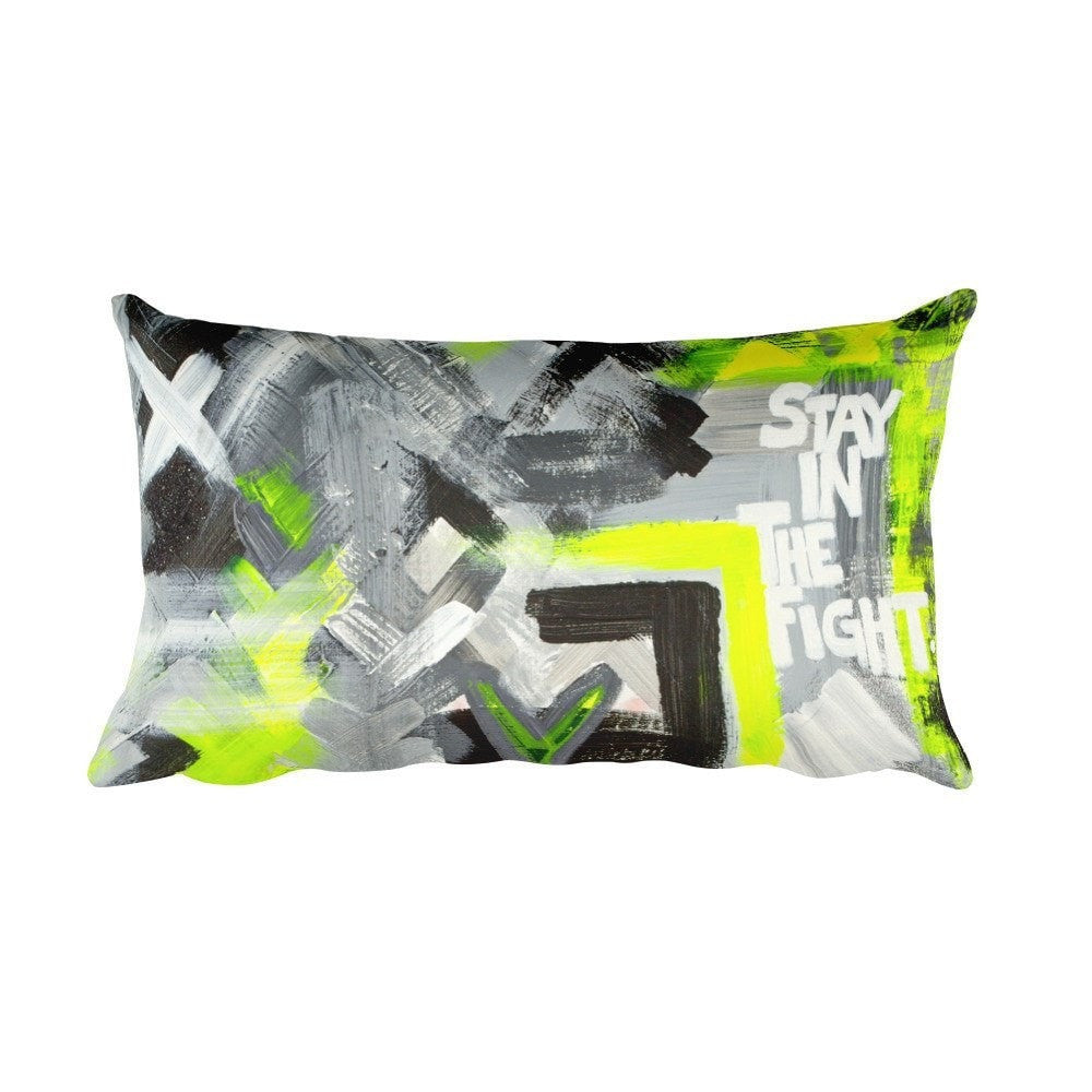 Stay In The Fight. Rectangular Pillow Abstract Deep