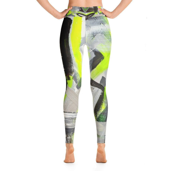 Stay In The Fight. Yoga Leggings Abstract Deep