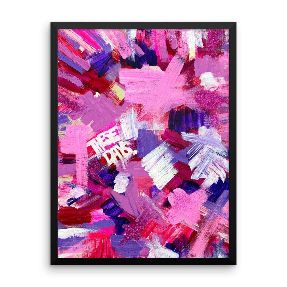 These Days. Premium Luster Photo Paper Framed Poster Abstract Deep