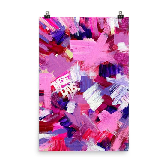 These Days. Premium Luster Photo Paper Poster Abstract Deep