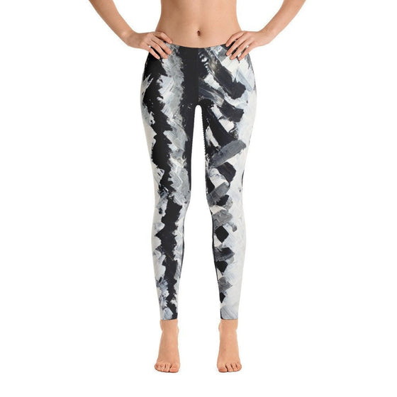 Up. Ankle Length Leggings Abstract Deep